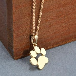 Dog Footprint Paw Chain Pendant Necklace
